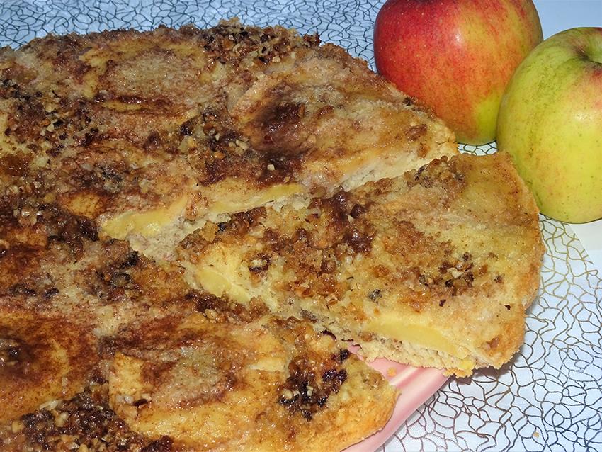 Brzi tart od jabuka i orašastih plodova
