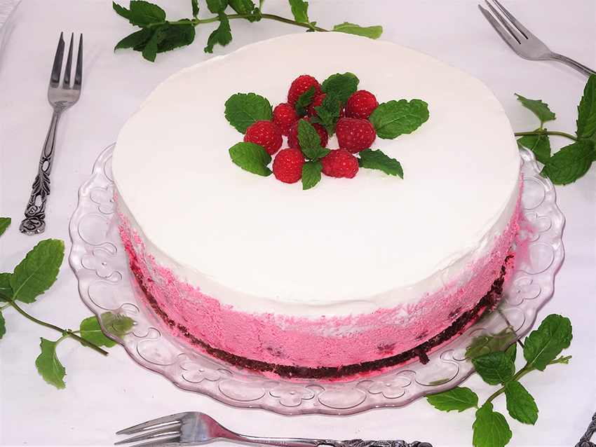 Brownie torta s malinama